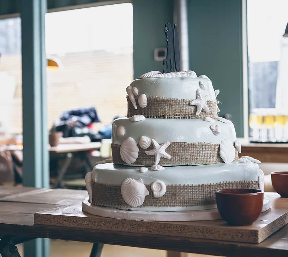Hochzeitstorte glutenfrei