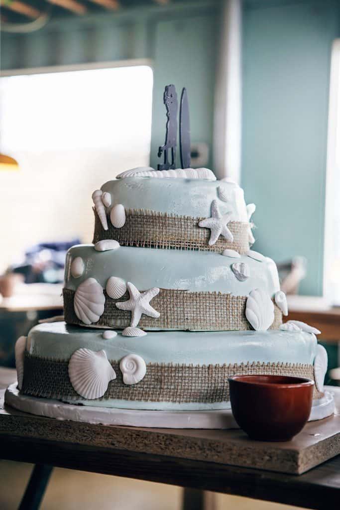 Erdbeer-Champagner-Torte glutenfrei Hochzeitstorte Bakemyday